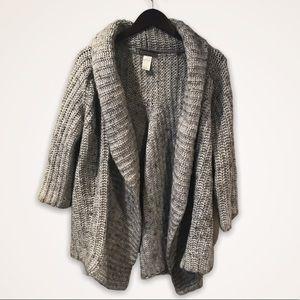 ELSAMANDA Anthropologie Boxy Chunky Knit Cardigan